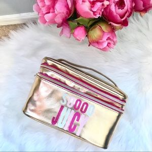 NWOT Juicy Couture cosmetic makeup travel case